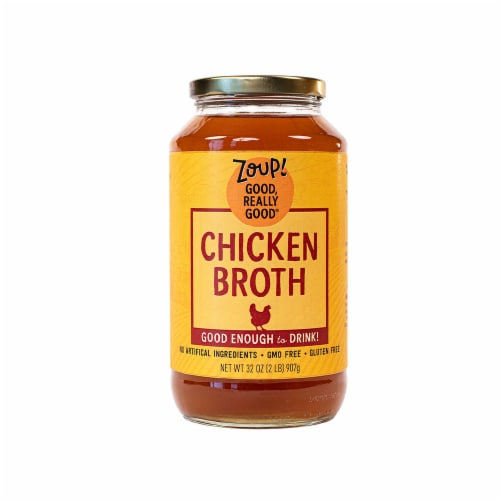 Zoup Good Really Good Gluten Free Chicken Broth Perspective: front