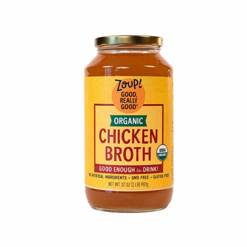 Zoup! Good Really Good Organic Chicken Broth Perspective: front