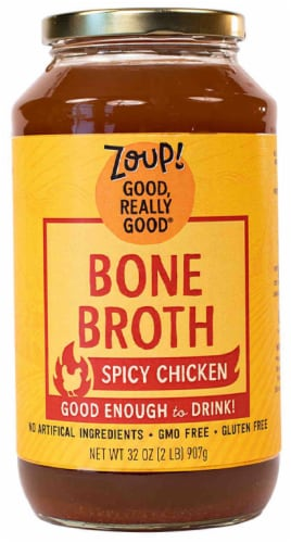 Zoup! Good Really Good Spicy Chicken Bone Broth Perspective: front