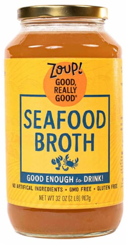 Zoup! Good Really Good Seafood Broth Perspective: front