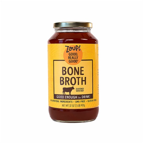 Zoup Good Really Good Beef Bone Broth Perspective: front