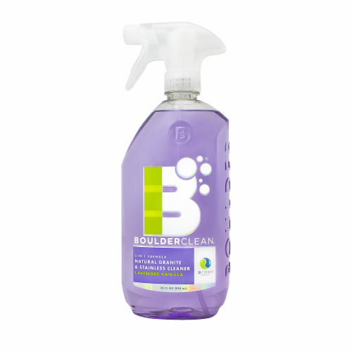 Boulderclean Lavender Vanilla Scented Natural Granite & Stainless Steel Cleaner Perspective: front