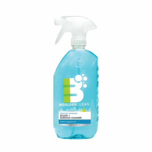 Boulderclean Herbal Peppermint Scented Natural Glass and Surface Cleaner Perspective: front