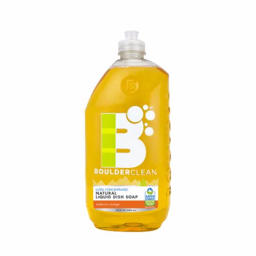 Boulderclean Natural Orange Liquid Dish Soap Perspective: front
