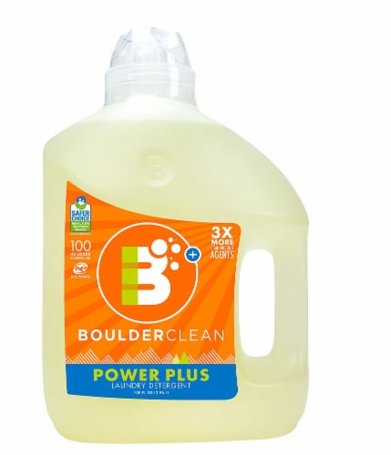 Boulderclean Power Plus Valencia Orange Laundry Detergent Perspective: front