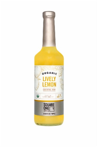 Square One Organic Spirits Lively Lemon Mixer Perspective: front