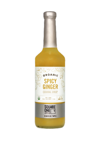 Square One Organic Spirits Spicy Ginger Syrup Mixer Perspective: front