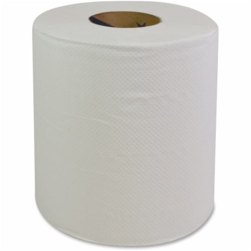 Lorell GNR87000 Center Pull Dispenser Paper Towels - White Perspective: front