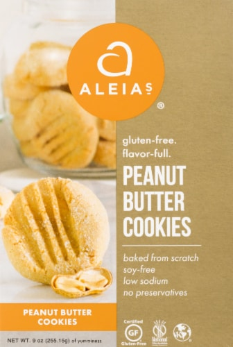 Aleia's  Cookies Gluten Free   Peanut Butter Perspective: front