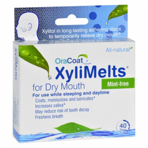 OraCoat Mint-Free XyliMelts For Dry Mouth Perspective: front