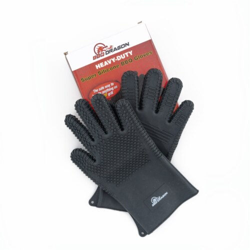 BBQ Dragon Heavy-Duty Super Silicone BBQ Gloves Perspective: front