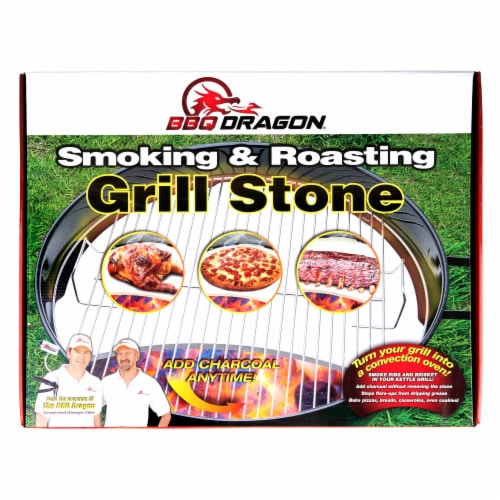 BBQ Dragon Smoking & Roasting Grill Stone Perspective: front