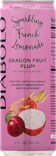 Diabolo Dragonfruit Plum Sparkling French Lemonade Perspective: front