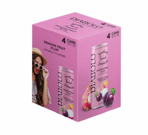 Diabolo Dragon Fruit Plum Sparkling French Lemonade Perspective: front