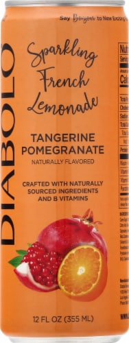 Diabolo Tangerine Pomegranate Sparkling French Lemonade Perspective: front