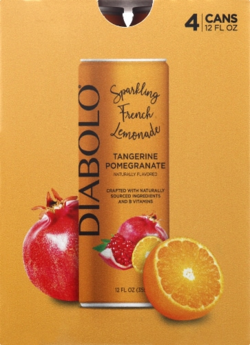 Diabolo Tangerine Pomegranate Sparkling French Lemonade Perspective: front