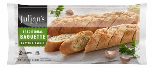 Julian's Recipe Butter & Garlic Baguette Perspective: front