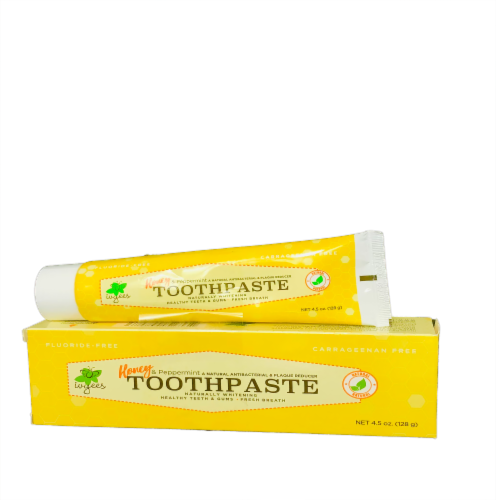 Honey & Peppermint Toothpaste Perspective: front