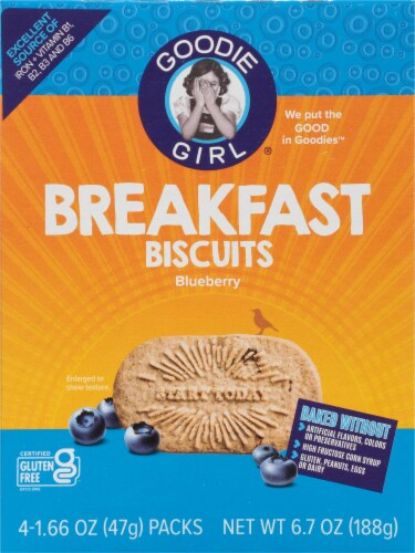 Goodie Girl Gluten Free Blueberry Breakfast Biscuits Perspective: front