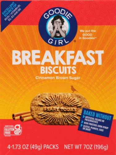 Goodie Girl Gluten Free Cinnamon Brown Sugar Breakfast Biscuits Perspective: front