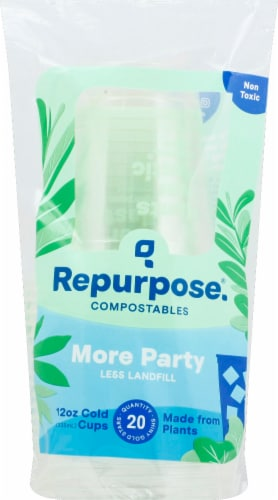 Repurpose Clear Cold Cups Perspective: front