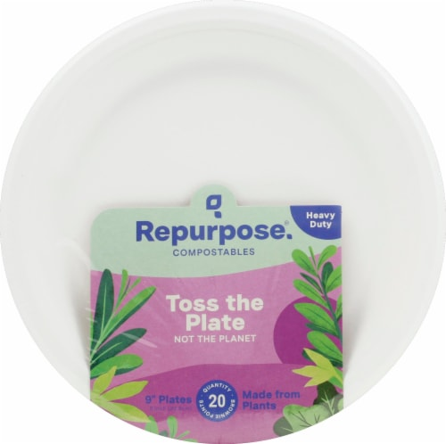 Repurpose 9-Inch Compostable Plates Perspective: front