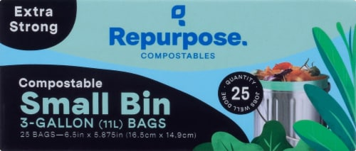 Repurpose 3-Gallon Compostable Food Scrap Bags Perspective: front