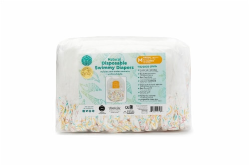 Little Toes Natural Disposable Swimmy Diapers (Small, 24 Count, 6.5-17lbs / 3-8 kg) Perspective: front