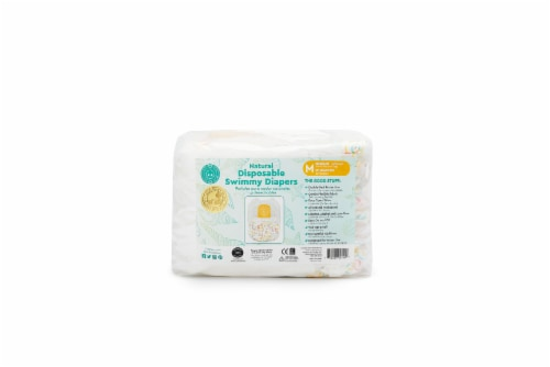 Little Toes Natural Disposable Swimmy Diapers (Medium, 12 Count 13-24 lbs / 6-11 Kgs) Perspective: front