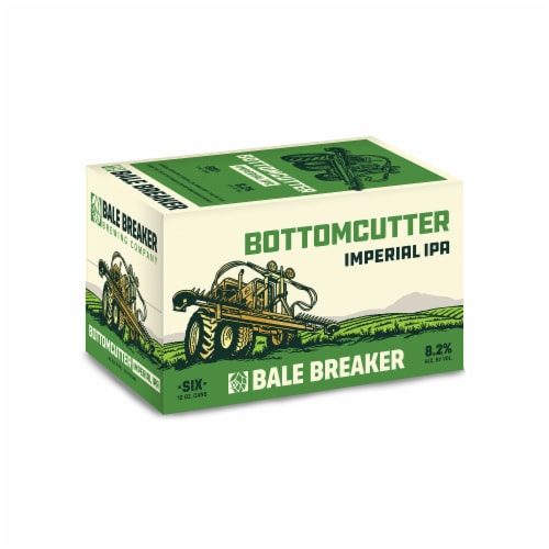 Bale Breaker Brewing Co. Bottomcutter Imperial IPA Beer Perspective: front