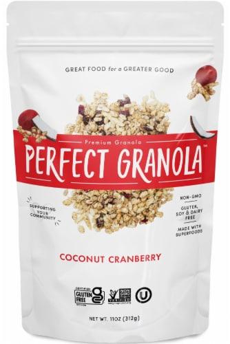 The Perfect Granola Coconut Cranberry Premium Granola Perspective: front