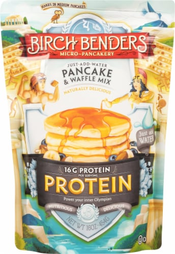 Birch Benders Plain Protein Pancake & Waffle Mix Perspective: front