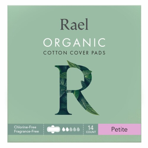 Rael Organic Cotton Cover Petite Pads Perspective: front