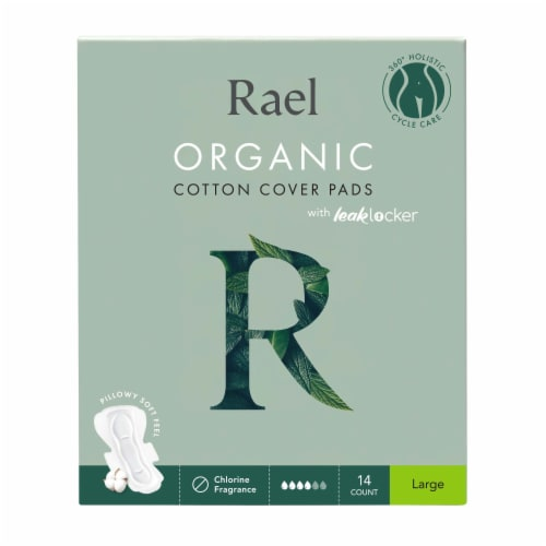 Rael Organic Cotton Cover Large Pads Perspective: front