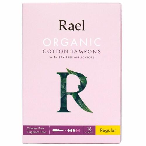 Rael Organic Cotton Regular Tampons Perspective: front