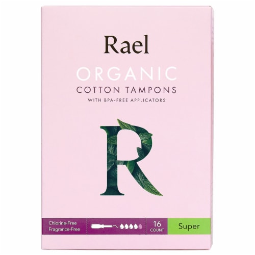 Rael Organic Cotton Super Tampons Perspective: front