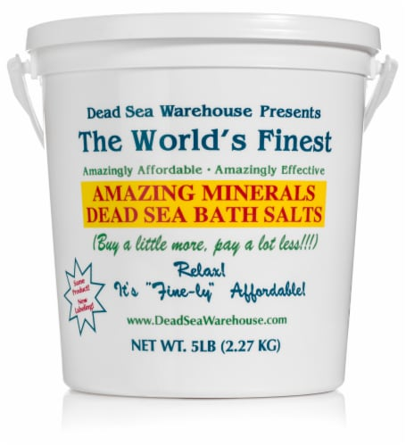 Dead Sea Warehouse Amazing Minerals Bath Salts Perspective: front