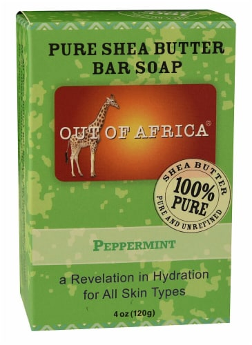 Out Of Africa Pure Shea Butter Bar Soap Peppermint Perspective: front