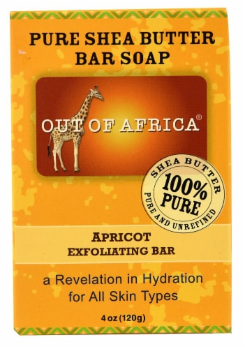 Out Of Africa Pure Shea Butter Bar Soap Exfoliating Bar Apricot Perspective: front