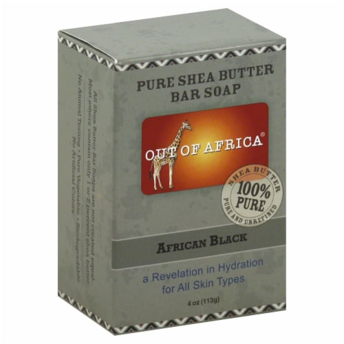 Out of Africa Pure Shae Butter Bar Soap African Black Perspective: front