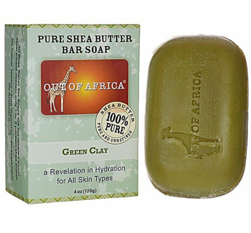 Out Of Africa Pure Shea Butter Bar Soap Green Clay Perspective: front