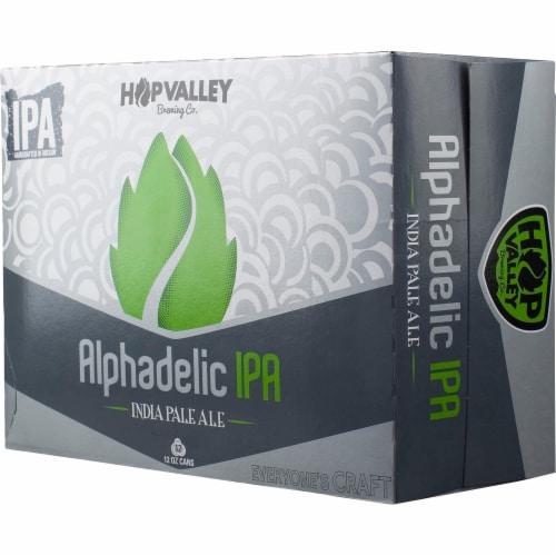 Hop Valley Alphadelic IPA Beer Perspective: front
