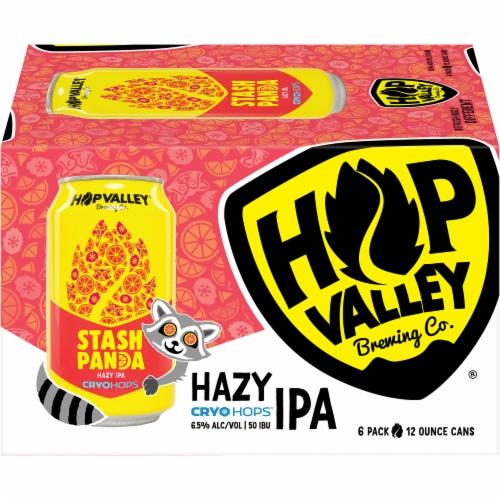 Hop Valley Brewing Co. Stash Panda Hazy Cryo Hops IPA Beer Perspective: front