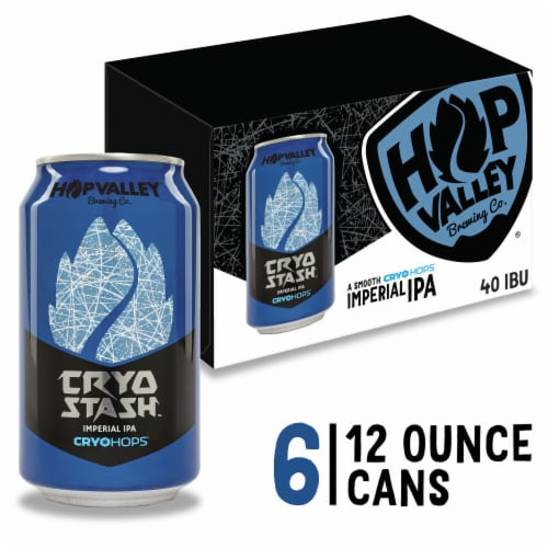 Hop Valley Brewing Co. Cryo Stash Imperial India Pale Ale Perspective: front