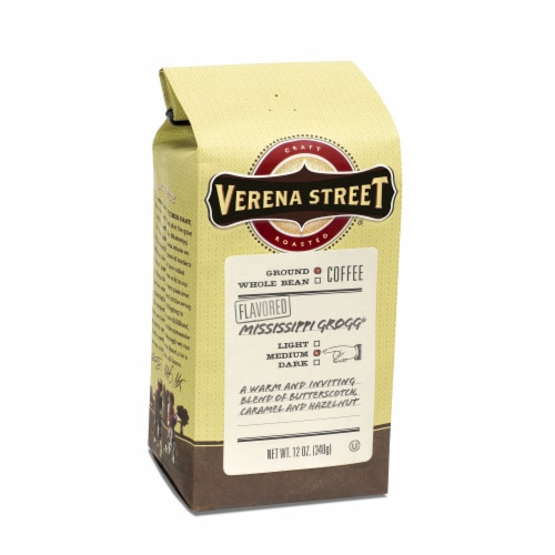 Verena Street Mississippi Grogg Ground Coffee Perspective: front