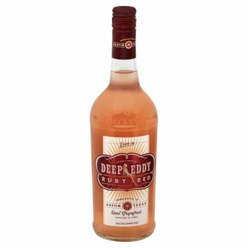 Deep Eddy Ruby Red Vodka Perspective: front
