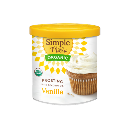 Simple Mills Organic Vanilla Coconut Oil Frosting Perspective: front