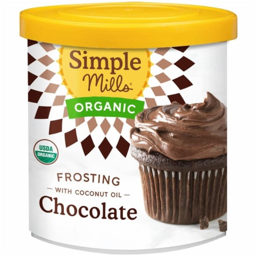Simple Mills Organic Coconut Oil Chocolate Frosting Perspective: front