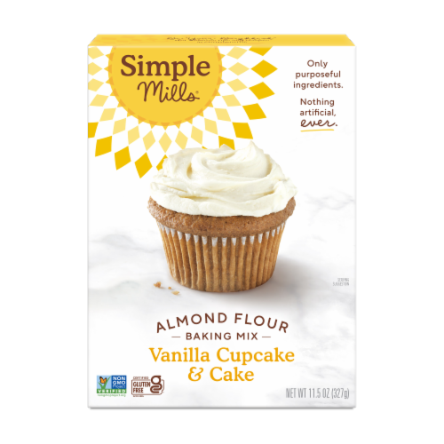 Simple Mills Vanilla Cupcake & Cake Almond Flour Mix Perspective: front
