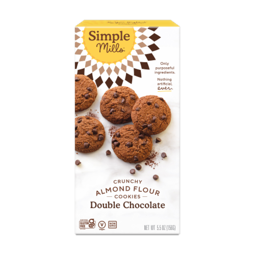 Simple Mills Crunchy Double Chocolate Cookies Perspective: front